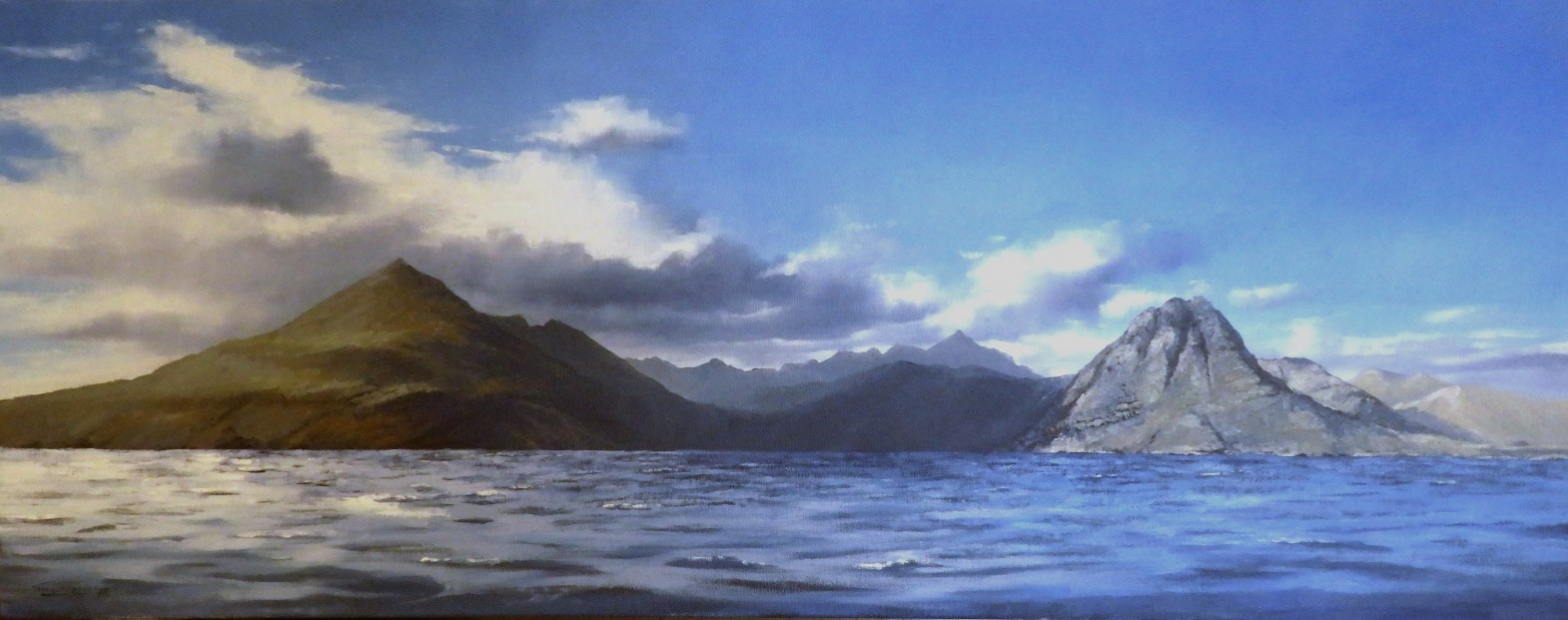 George-Noakes_Original_Oil_Dark-Heart-of-the-Cuillins_image-15.5x39.5_Framed-24.5x47.5