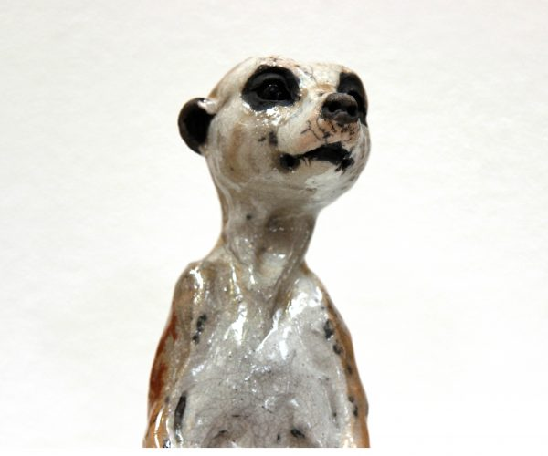 Lesley McKenzie_Original_Raku ceramic_Large Meerkat I_13x5x5 (2)