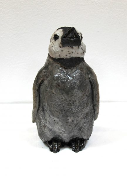 Lesley McKenzie_Original_Raku ceramic_Penguin Chick II_8x6x5_ (1)