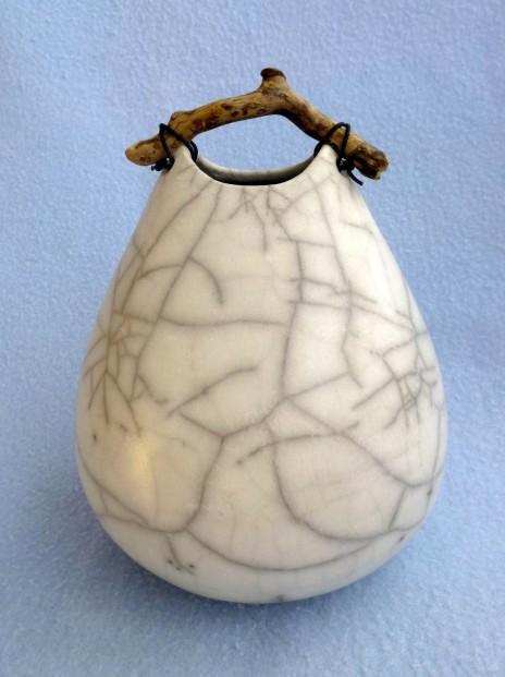 10. narrow top crackle pot