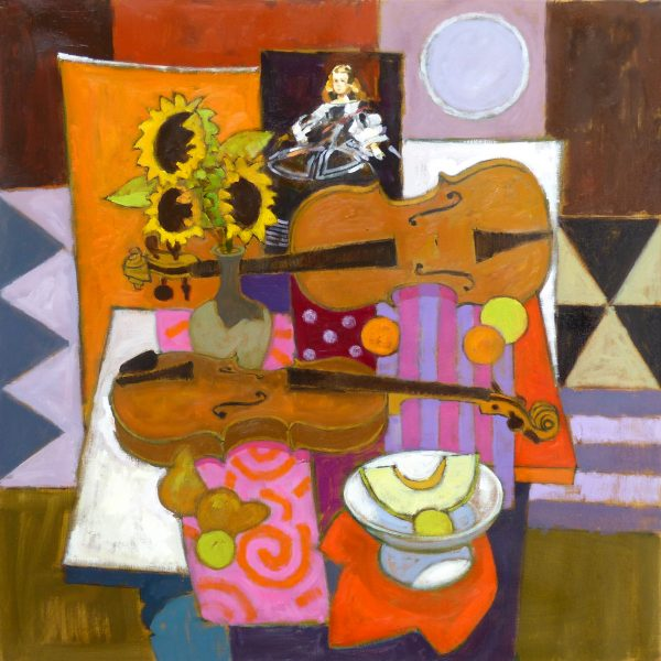 10.Jack Morrocco_Original_ Oil on Canvas_ViolinsVelasquez080 30x30