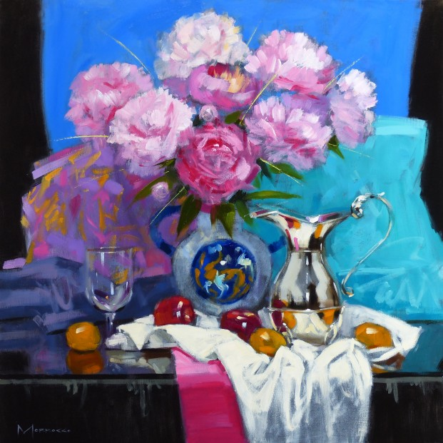 13.Jack Morrocco_Original_ Oil on Canvas_Pink Peonies042 28x28