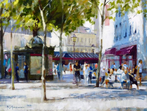 25.Jack Morrocco_Original_ Oil on Canvas_Abbesses I 0989 18x24