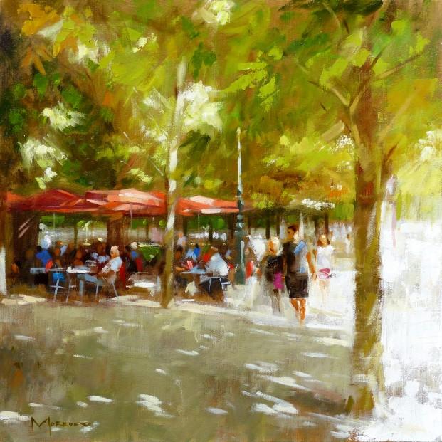 26 19.Jack Morrocco_Original_ Oil on Canvas_Tuileries0330 20x20