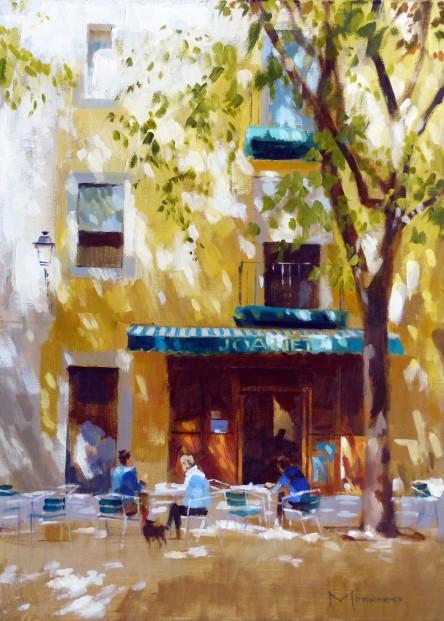 27.Jack Morrocco_Original_ Oil on Canvas_Barcelona0957  22x16