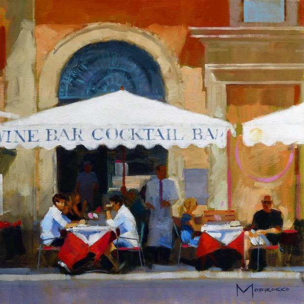32.Jack Morrocco_Original_ Oil on Canvas_CocktailRome0043 16x16