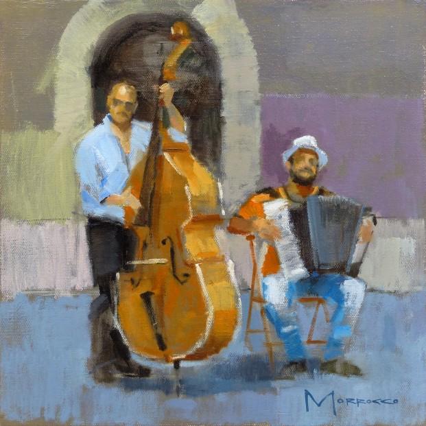 36.Jack Morrocco_Original_ Oil on Canvas_GypsyJazz003 12x12