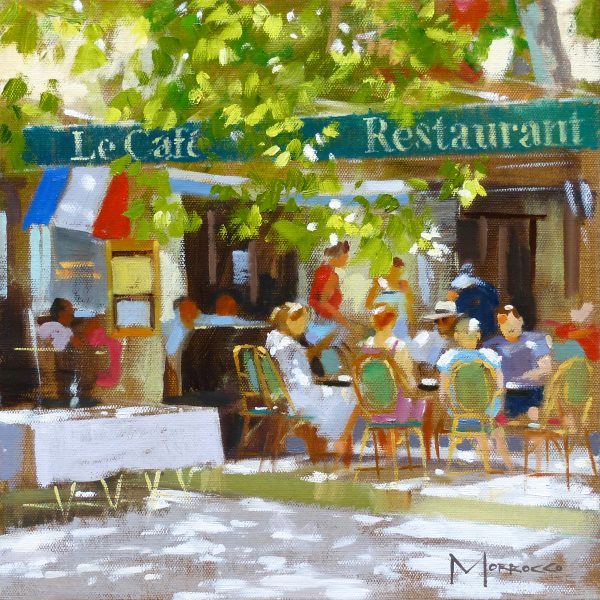 38.Jack Morrocco_Original_ Oil on Canvas_LeCafeStTropez092 12x12