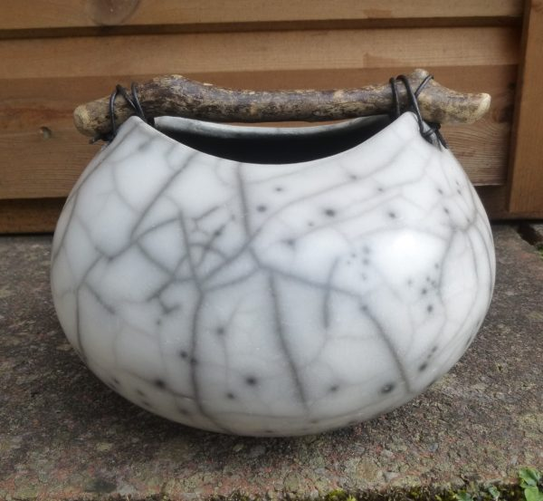 9. small rounded crackle pot