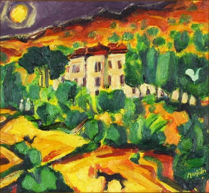 Charles Monteith Walker_Original Oils_Picasso's House_11x12_(2)