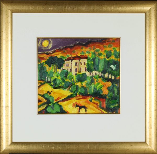 Charles Monteith Walker_Original Oils_Picasso's House_11x12_Framed 22x22 (2)