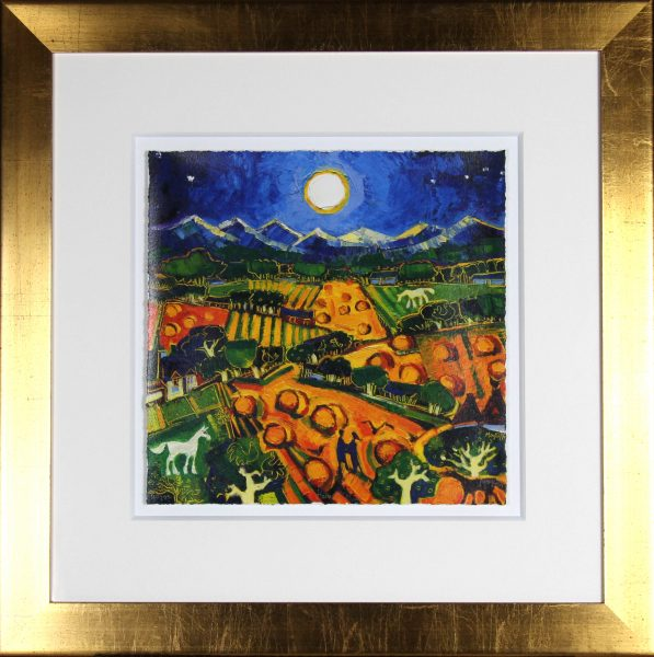 Charles Monteith Walker_Signed Limited Edition Print__Harvest Moon_40 of 195_15x15_Framed 28x28 (6)