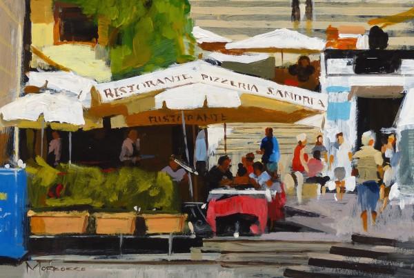 Jack Morrocco_Original_Acrylics_Caffe Sant'Andrea, Almafi._8x12
