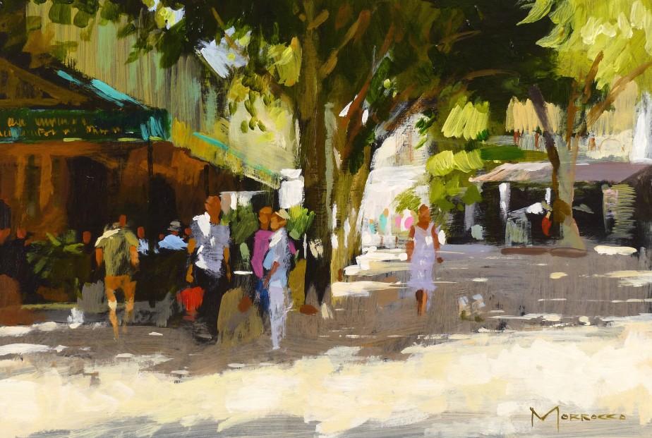 Jack Morrocco_Original_Acrylics_La Place, St Paul de Vence_8x12