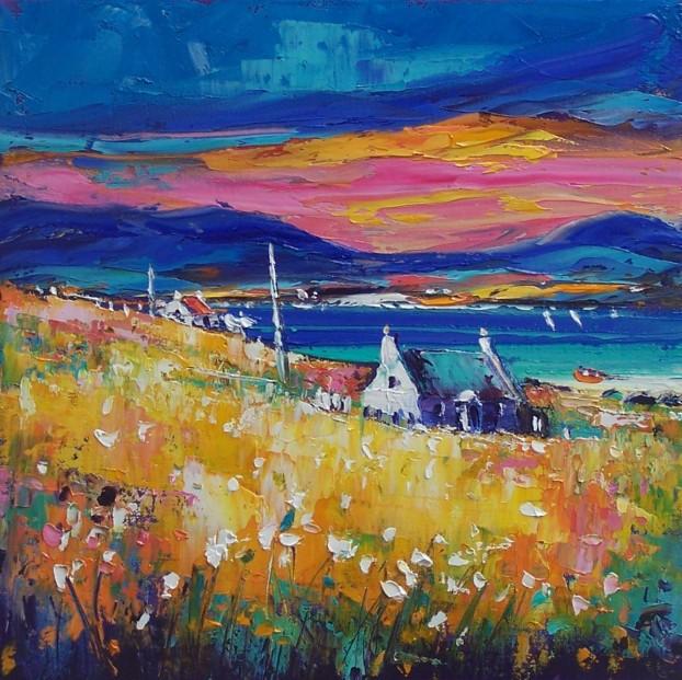 Jean Feeney_Change in the Weather, Kintyre_Oils_12x12