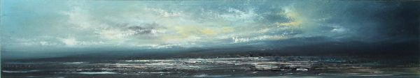 Philip Raskin_Original Acrylic_Coastal Blues_8x40_