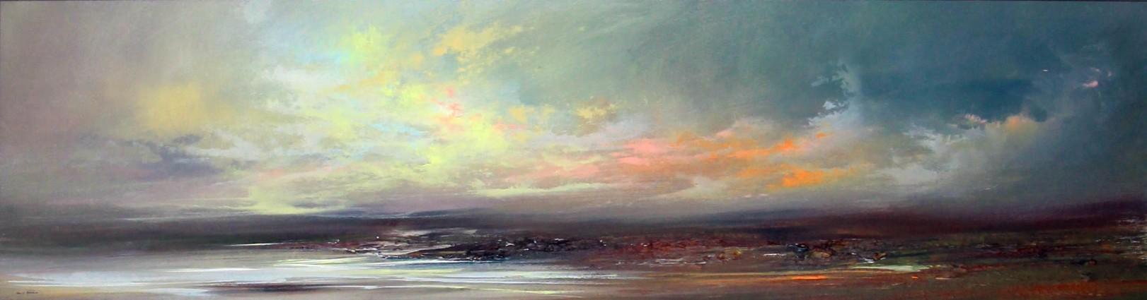 Philip Raskin_Original Acrylic_Early Light, Iona_16x60_