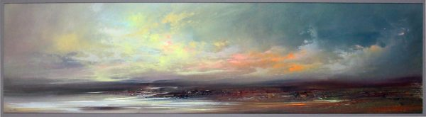 Philip Raskin_Original Acrylic_Early Light, Iona_16x60_framed 17x61 (3)