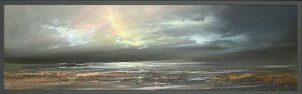 Philip Raskin_Original Acrylic_Pretty in Pink_12x40_framed 13x41 (1)