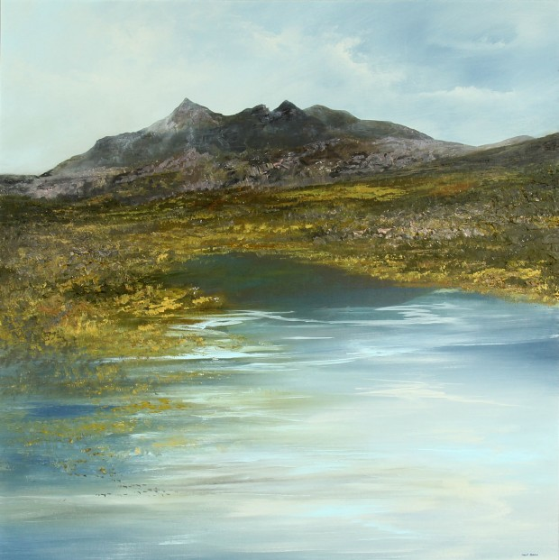 Philip Raskin_Original Acrylic_Skye High_40x 40_