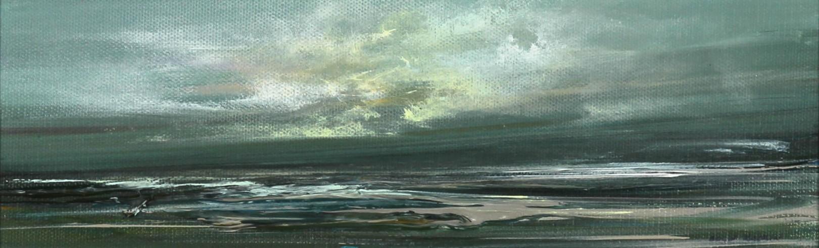 Philip Raskin_Original Acrylic_Toward Tiree_4x12_