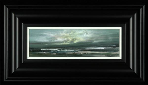 Philip Raskin_Original Acrylic_Toward Tiree_4x12_framed 11x19 (2)